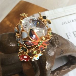 Jewelry - Cocktail ring in the style of Dior Diorette